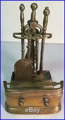 Vintage Miniature Fireplace Tools Set + Fender Brass Artisan Handmade Dollhouse
