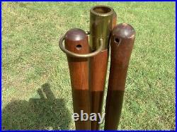 Vintage Seymour Wood Iron Fireplace Tools Set Mid Century Modern mcm