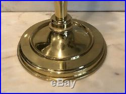 Vintage Solid Brass Fireplace 5 Piece Tool Set 34 H