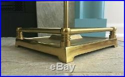 Vintage Solid Brass Heavy Fireplace Set 7 Piece Tools & Stand Contemporary