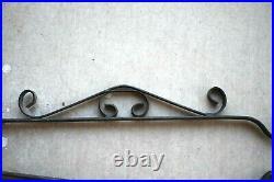 Vintage Wrought Iron Fireplace Tool Set 5 Piece Decorative