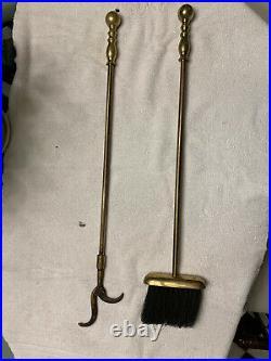 Virginia Metalcrafters (Harvin) Solid Brass Fire Tool Set 879 Model