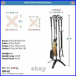 WR-02 5-Piece Wrought Iron Tool Set, Rope
