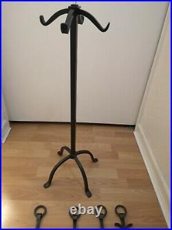 Woodfield 61221. Wrought Iron Fireplace Tool Set. Tong shovel broom poker & base